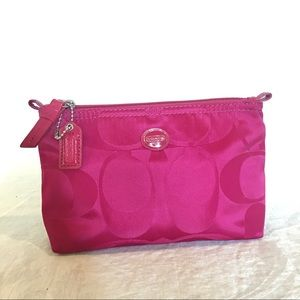 Coach Cosmetic Bag Fuchsia Pink